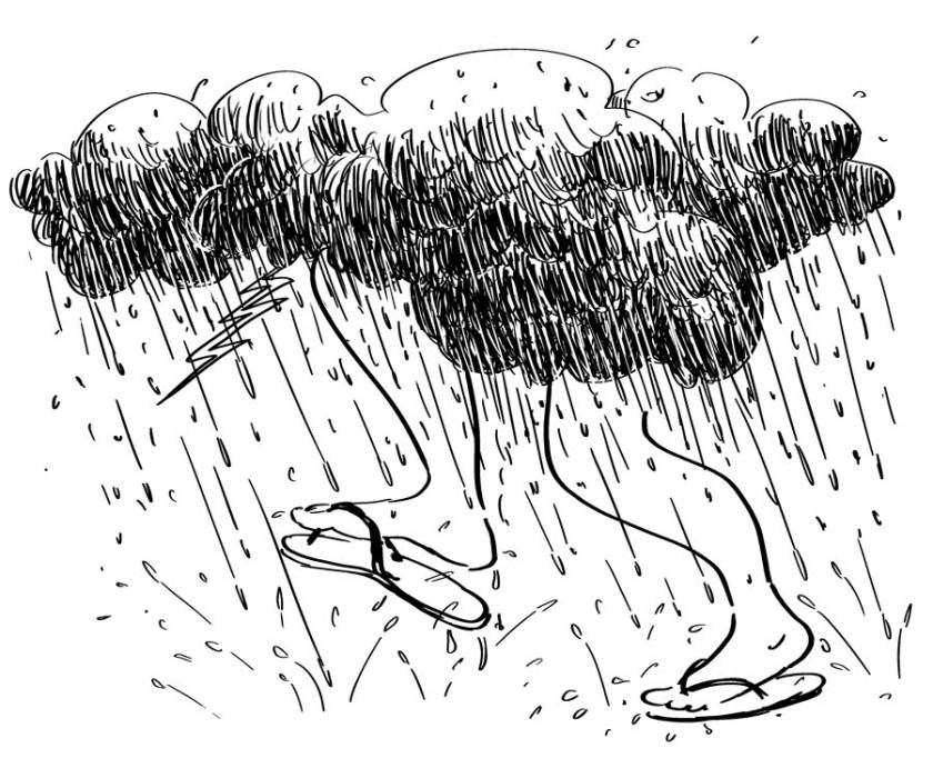 """Umas das primeiras ilustrações de Enéas Guerra para """"Notas Mínimas"""""""